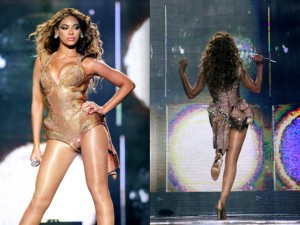 Beyonce and her hips.  Picture c/o Getty Images.